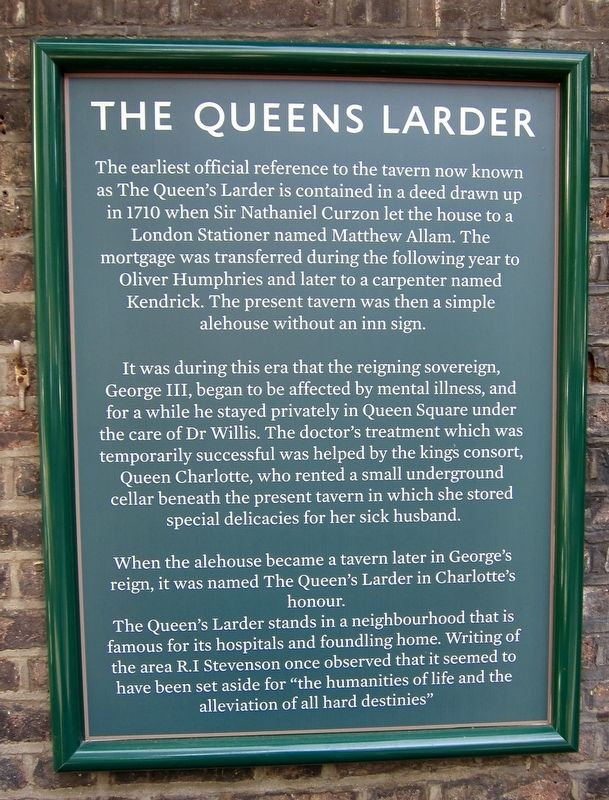 The Queens Larder Marker image. Click for full size.