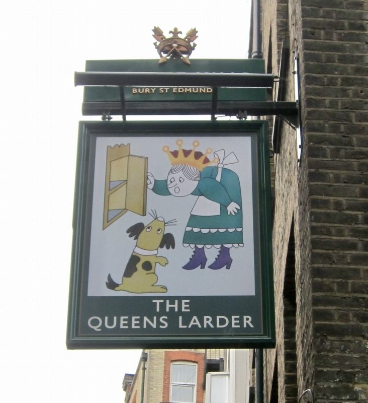 The Queens Larder Pub Sign image. Click for full size.