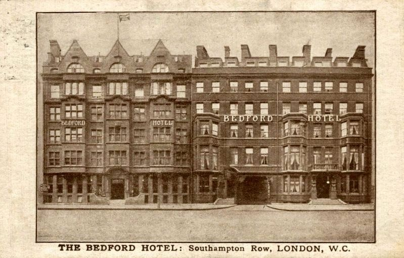 <i>The Bedford Hotel, Southampton Row, London, W.C.</i> image. Click for full size.