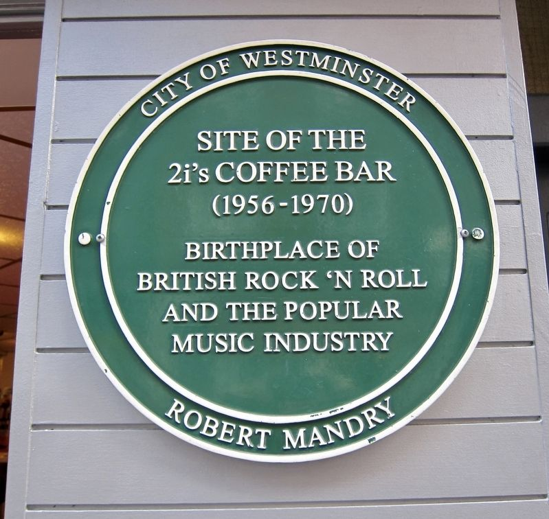 The 2i's Coffee Bar Marker image. Click for full size.