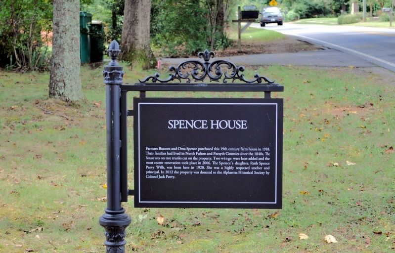 Spence House Marker image. Click for full size.