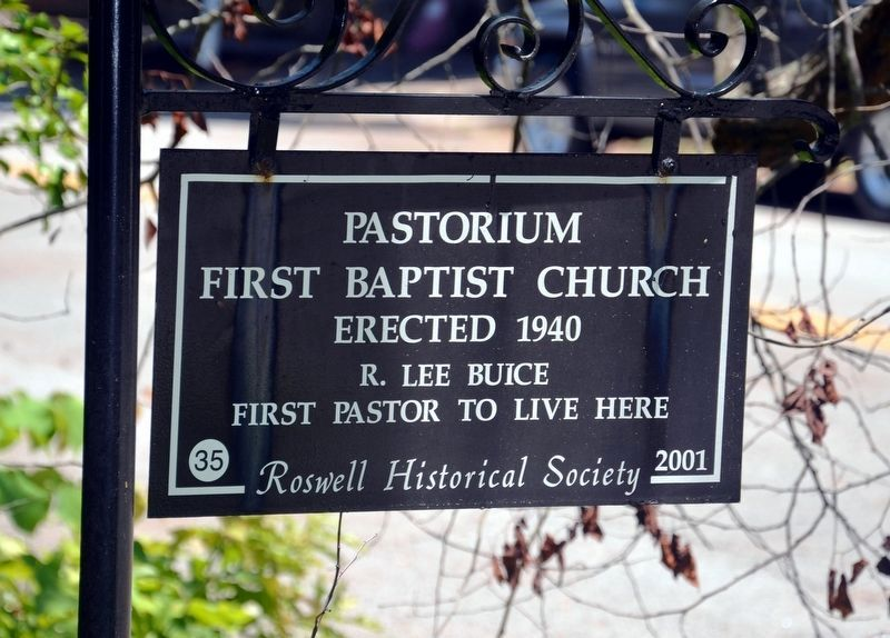 Pastorium First Baptist Church Marker image. Click for full size.