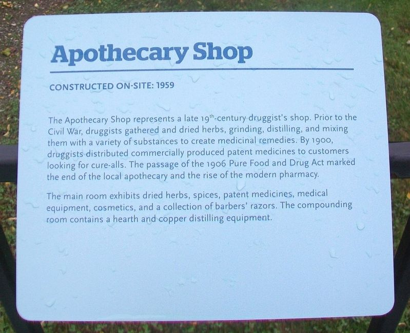 Apothecary Shop Marker image. Click for full size.