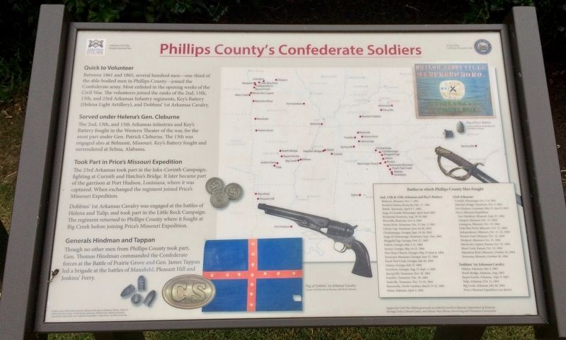 Phillips County's Confederate Soldiers Marker image. Click for full size.