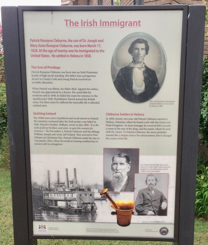 The Irish Immigrant Marker image. Click for full size.