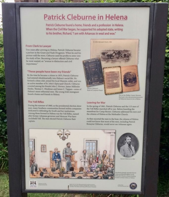 Patrick Cleburne in Helena Marker image. Click for full size.