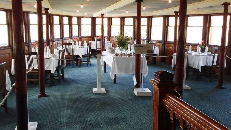 Sidewheel Steamboat <i>Ticonderoga</i> Dining Room image. Click for full size.