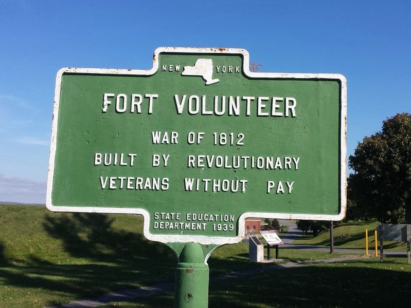 Fort Volunteer Marker image. Click for full size.