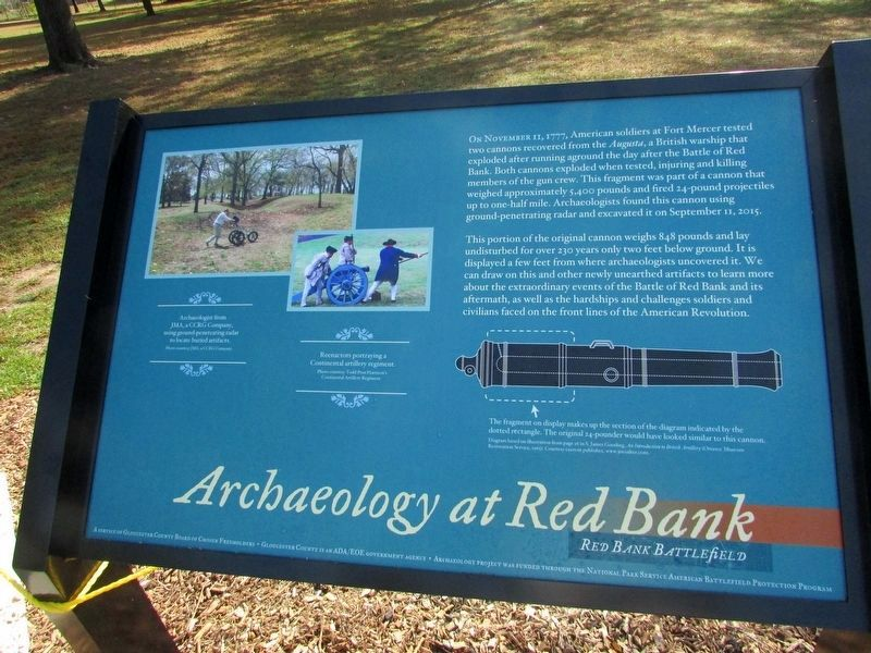 Archaeology at Red Bank Marker (NEW MARKER) image. Click for full size.