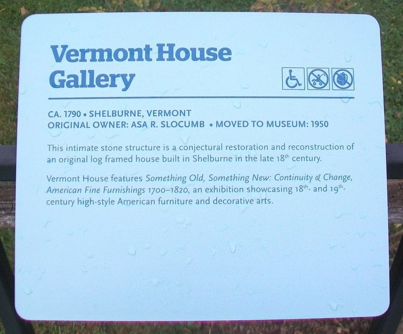 Vermont House Gallery Marker image. Click for full size.
