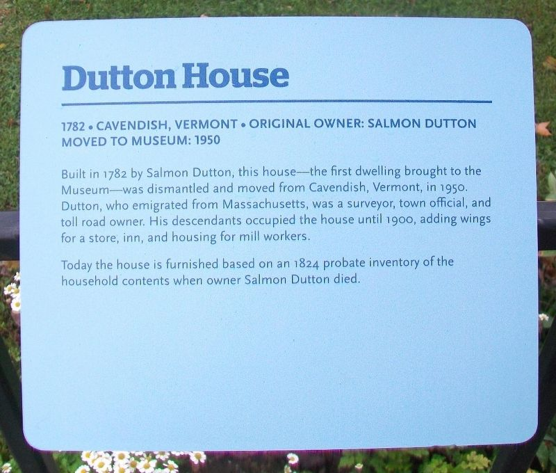 Dutton House Marker image. Click for full size.