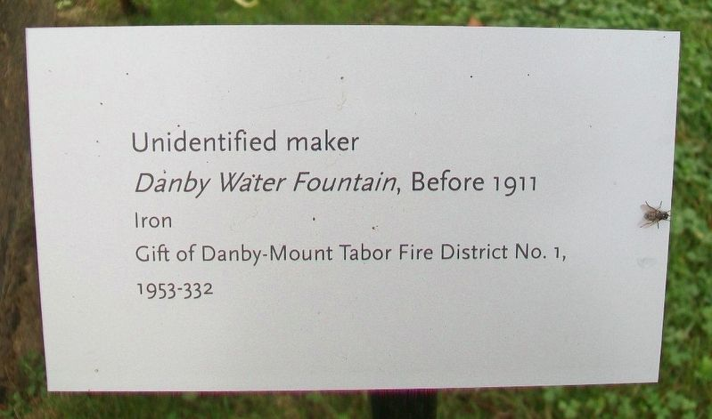 <i>Danby Water Fountain</i>, Before 1911 Marker image. Click for full size.