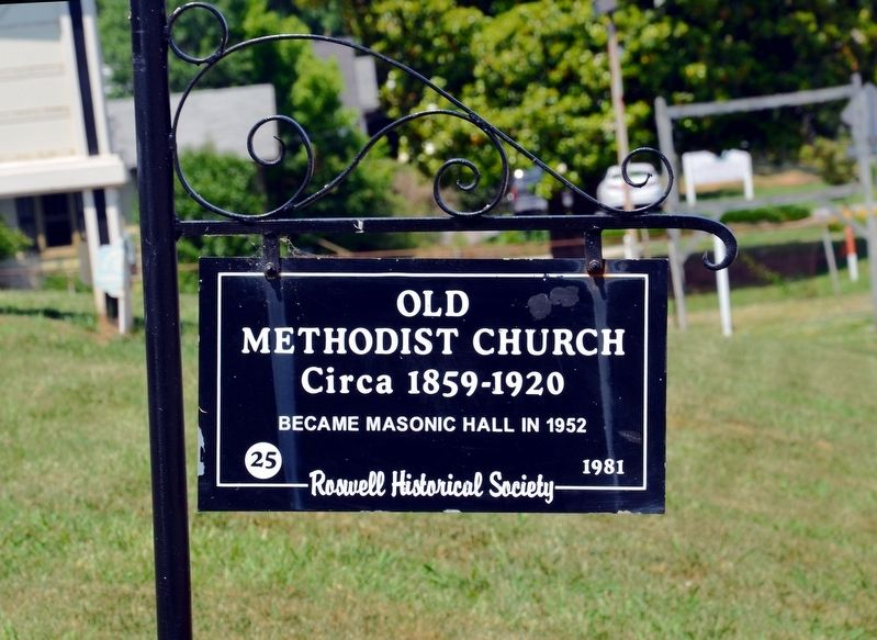 Old Methodist Church Marker image. Click for full size.