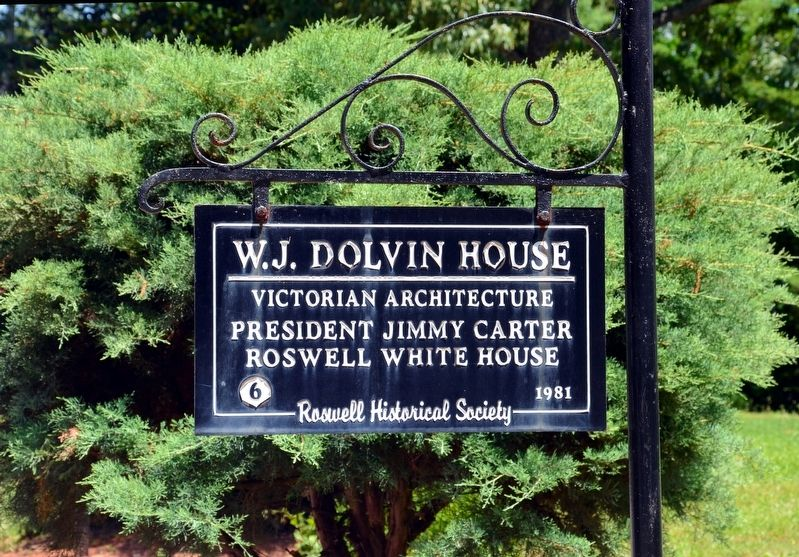 W.J. Dolvin House Marker image. Click for full size.