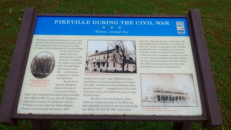 Pikeville During the Civil War Marker image. Click for full size.