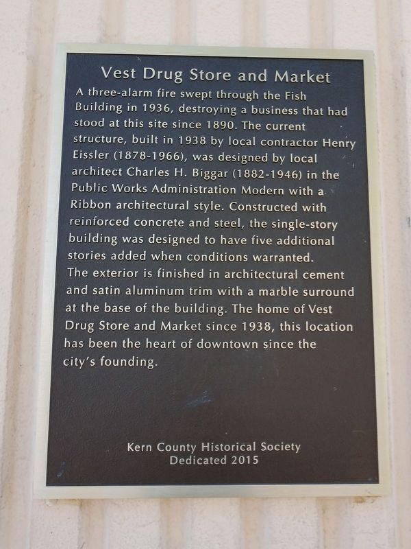 Vest Drug Store and Market Marker image. Click for full size.
