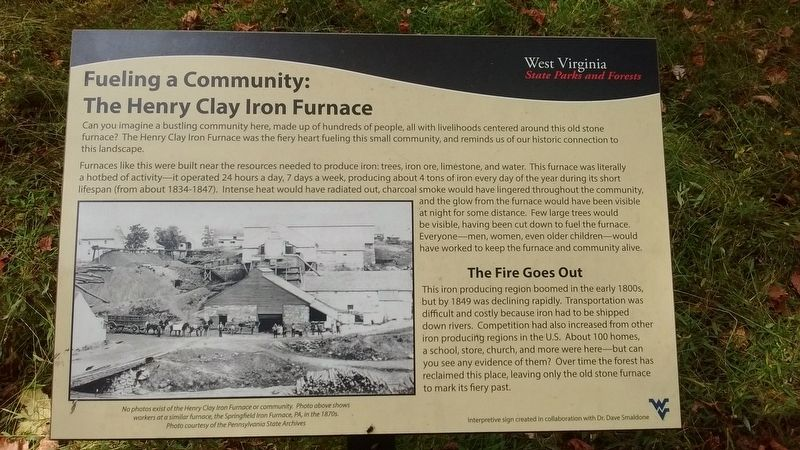 Fueling a Community: The Henry Clay Iron Furnace Marker image. Click for full size.