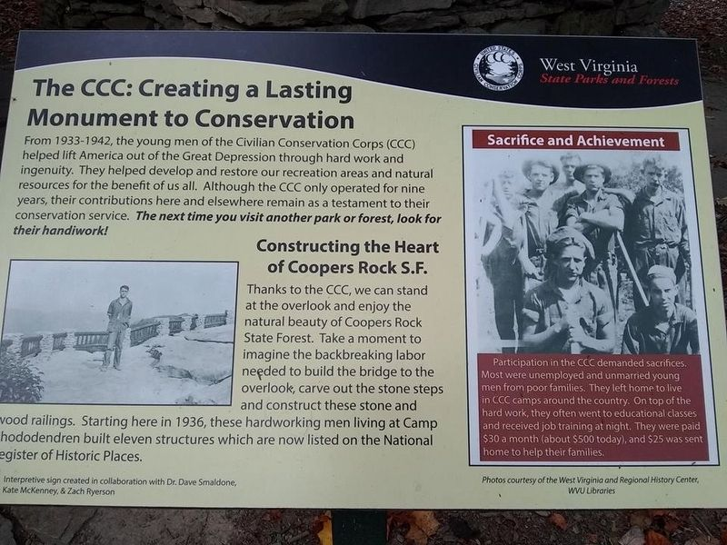 The CCC: Creating a Lasting Monument to Conservation Marker image. Click for full size.