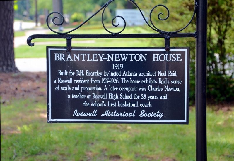 Brantley-Newton House Marker image. Click for full size.