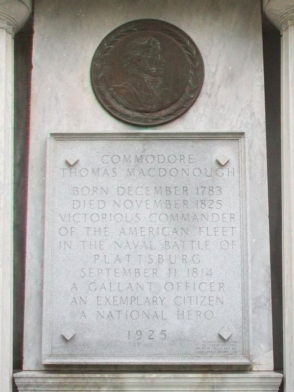 Commodore Thomas Macdonough Monument image. Click for full size.