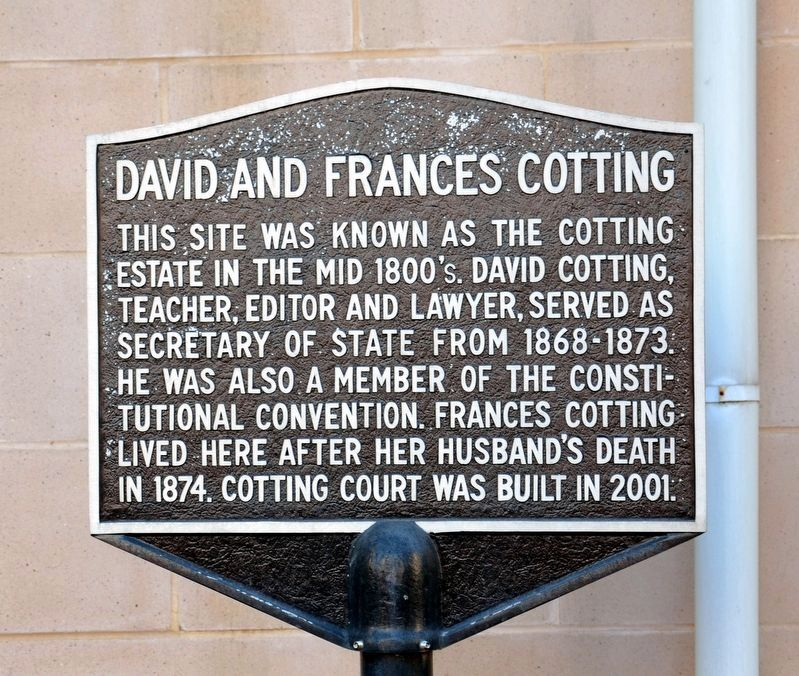 David and Frances Cotting Marker image. Click for full size.