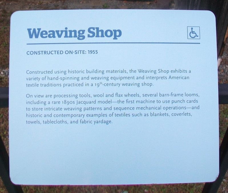 Weaving Shop Marker image. Click for full size.