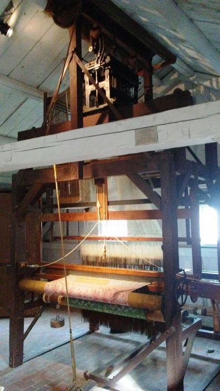 Weaving Shop Jacquard Loom image. Click for full size.