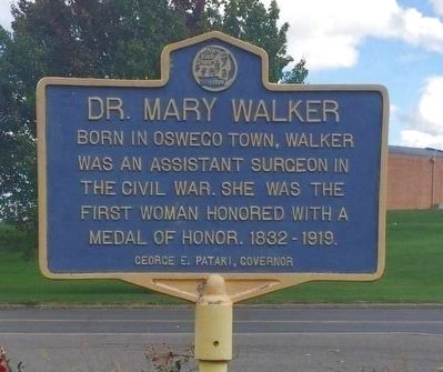Dr. Mary Walker Marker image. Click for full size.