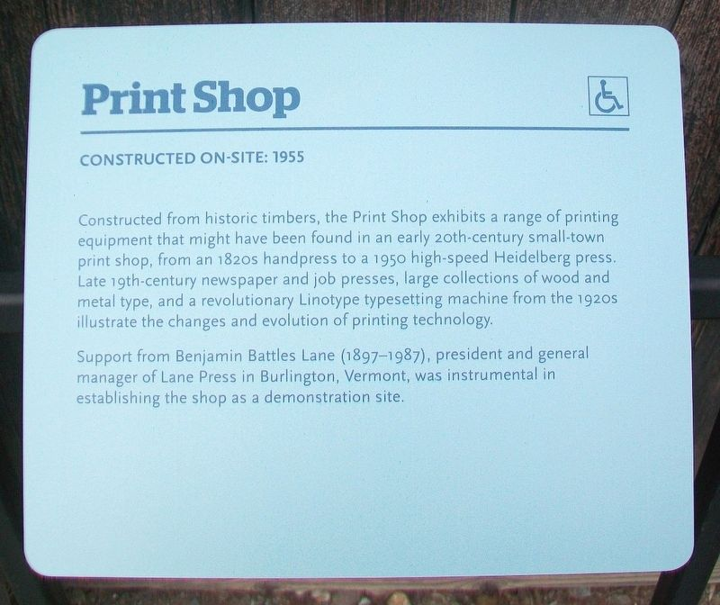Print Shop Marker image. Click for full size.