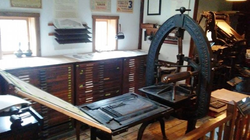 Print Shop - 1820s Hand Press image. Click for full size.