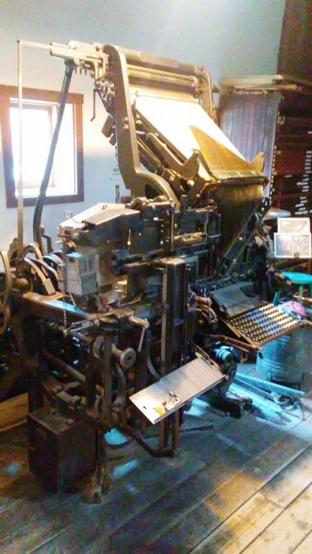 Print Shop - Merganthaler Linotype Press image. Click for full size.