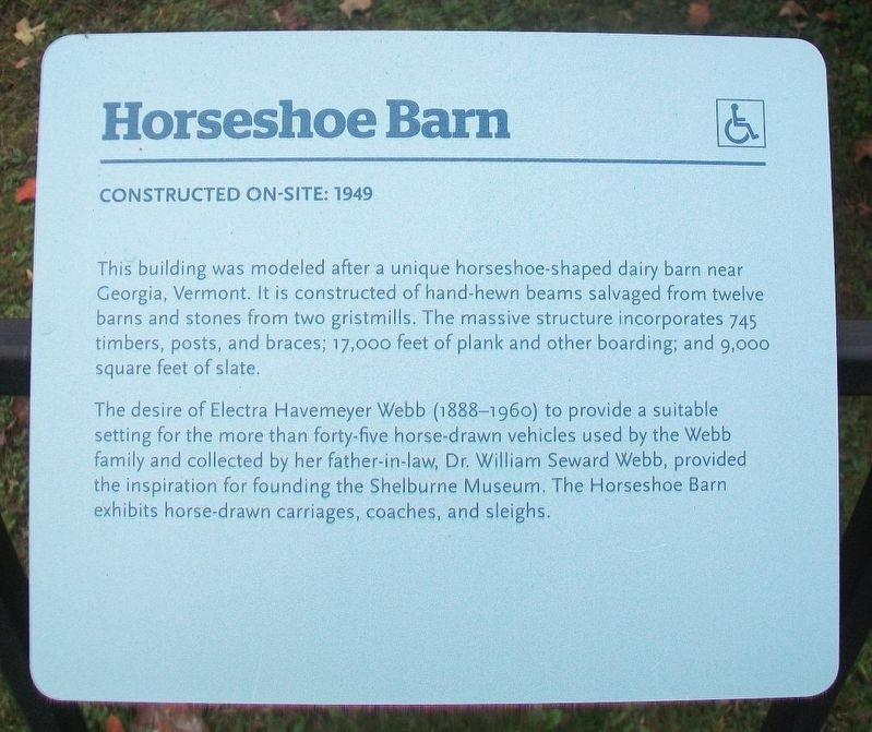 Horseshoe Barn Marker image. Click for full size.