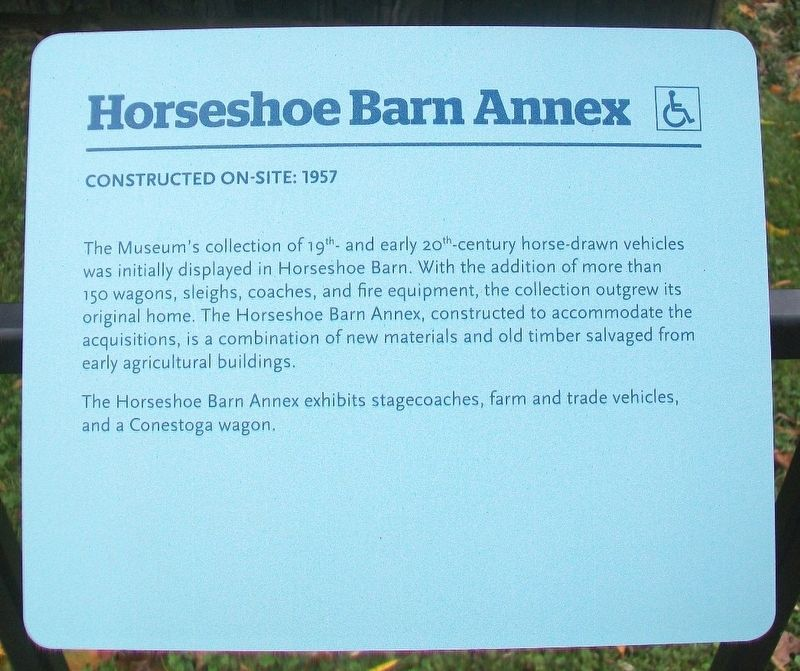 Horseshoe Barn Annex Marker image. Click for full size.