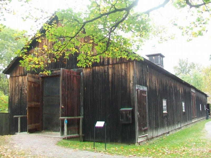 Horseshoe Barn Annex and Marker image. Click for full size.