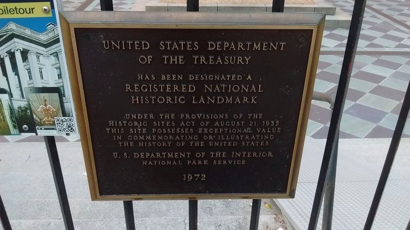 United States Department of the Treasury - National Historic Landmark image. Click for full size.
