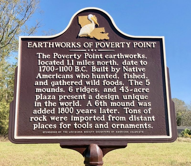 Earthworks of Poverty Point Marker image. Click for full size.