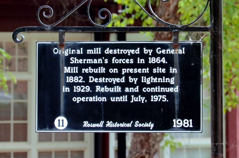 Original Mill Marker image. Click for full size.