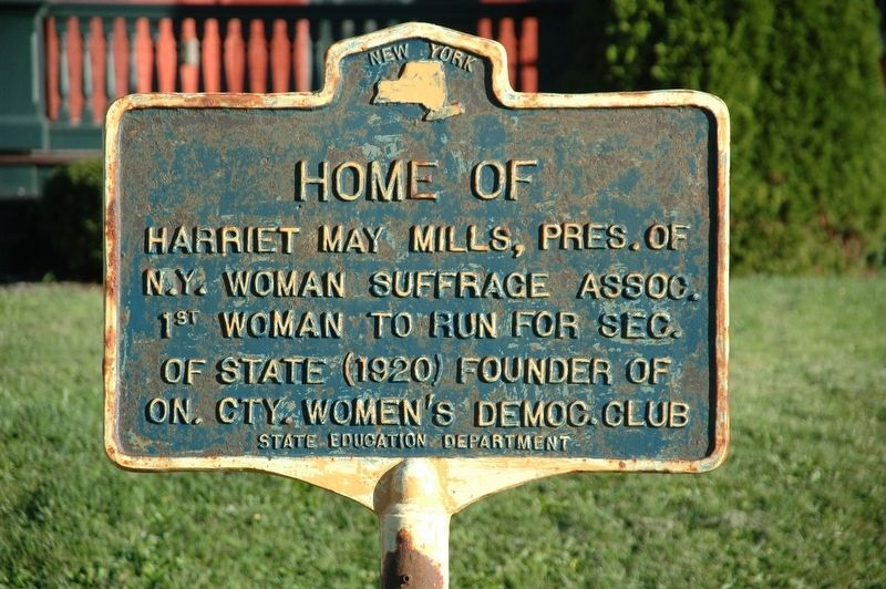 Harriet May Mills House Marker image. Click for full size.