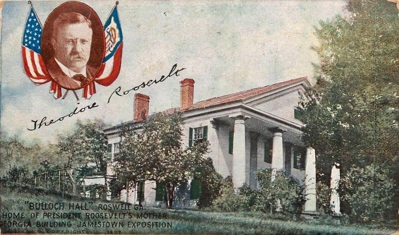 """Bulloch Hall"". Roswell, GA. image. Click for full size."