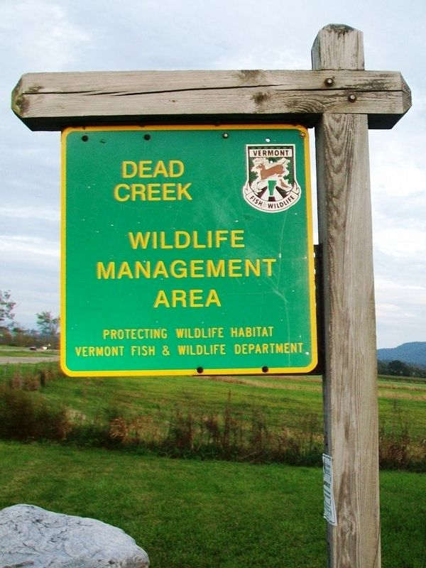 Dead Creek Wildlife Management Area Sign image. Click for full size.