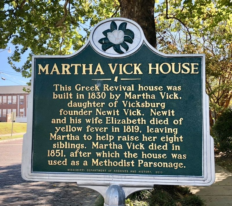 Martha Vick House Marker image. Click for full size.