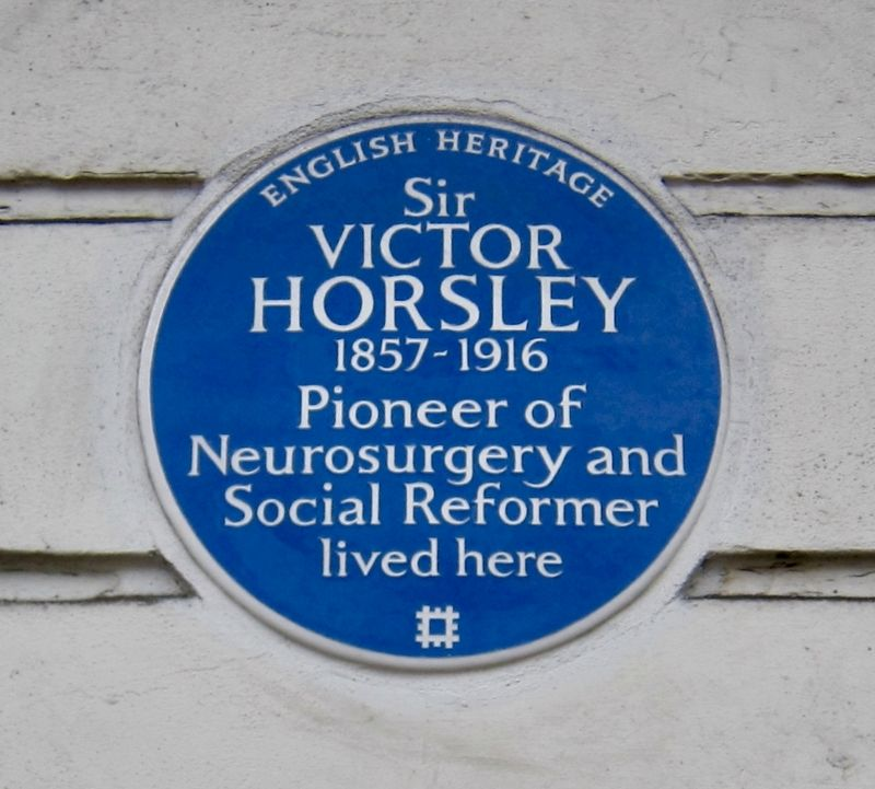 Sir Victor Horsley Marker image. Click for full size.