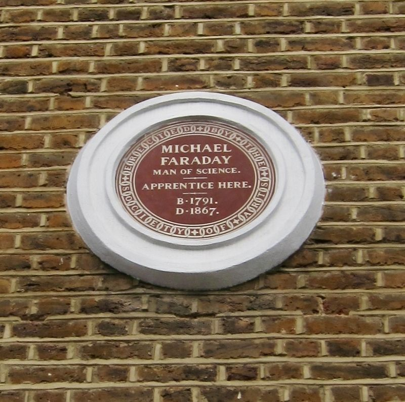 Michael Faraday Marker image. Click for full size.