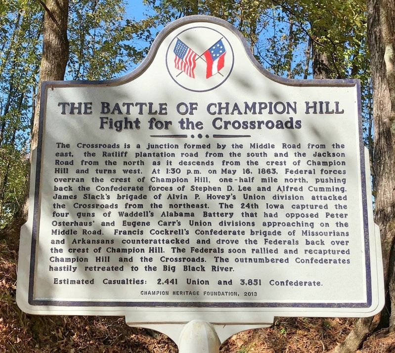 The Battle of Champion Hill Marker image. Click for full size.