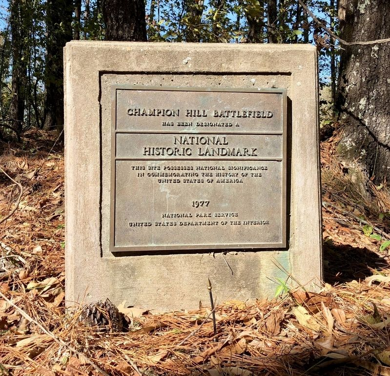 Champion Hill Battlefield Marker image. Click for full size.