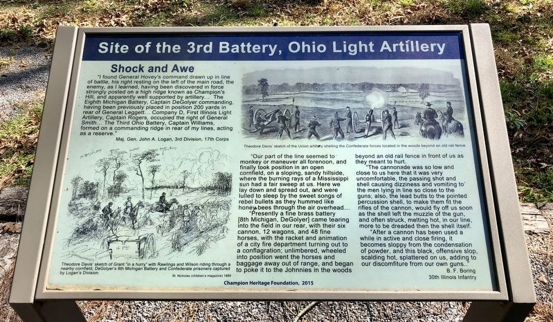 Site of the 3rd Battery, Ohio Light Artillery Marker image. Click for full size.