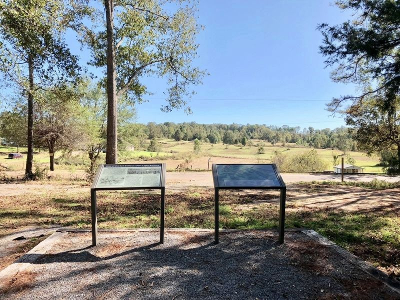 View from markers towards former battlefield. image. Click for full size.