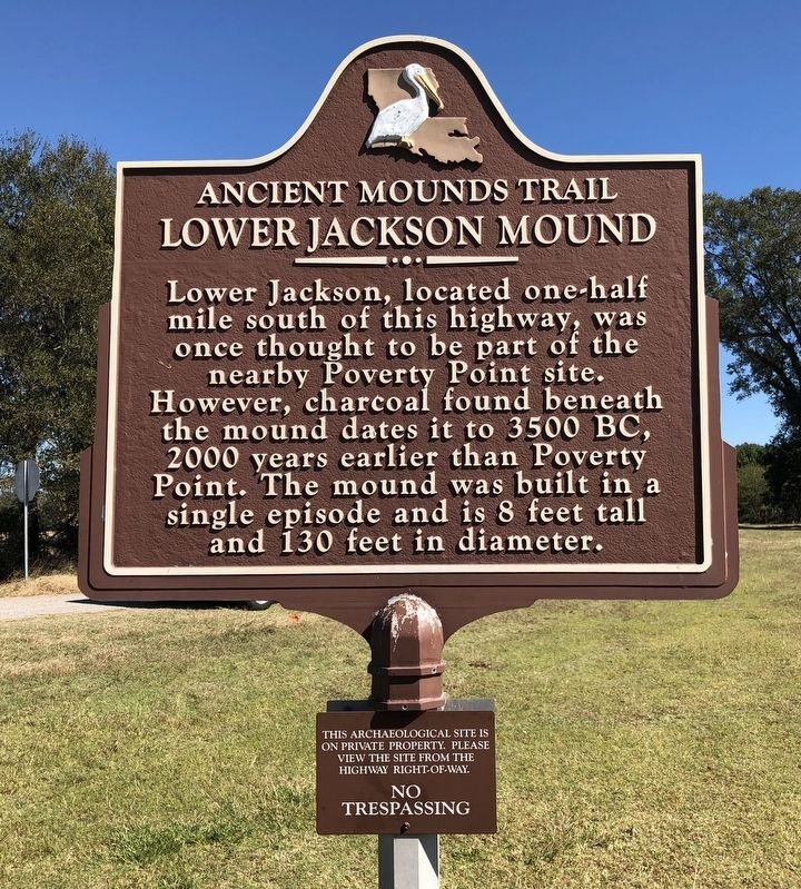 Lower Jackson Mound Marker image. Click for full size.