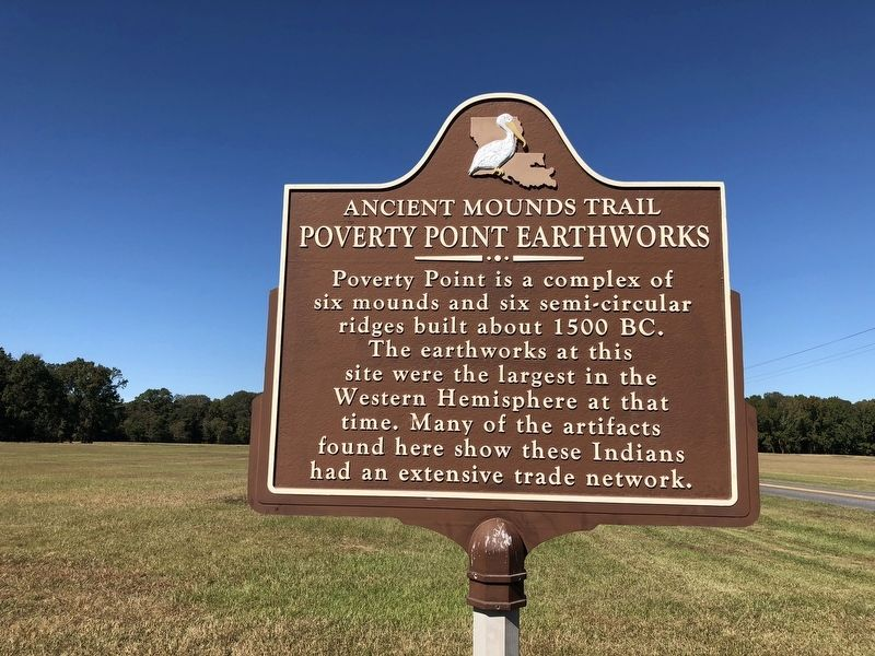 Poverty Point Earthworks Marker image. Click for full size.