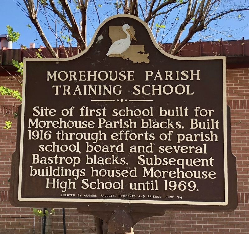 Morehouse Parish Training School Marker image. Click for full size.